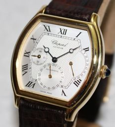 Chopard 2248 automatic power reserve 18k solid gold - men's watch - 1990/2000's