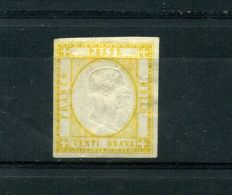 Kingdom of Italy, 1861 - Neapolitan Provinces, 20 grana, yellow Sassone no. 23