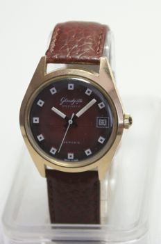 GUB Glashütte Spezimatic – classical casing – Date – men's watch – 1964-1980