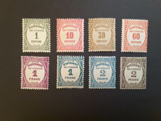 France 1927/1931 - Tax Stamps - Yvert Tax no. 55 to 62