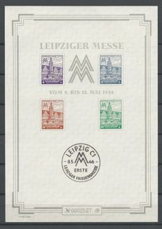 Allied occupation West-Sachsen 1948 - Leipziger Messe - Michel block 5 SX