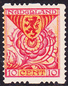 The Netherlands 1925 - Child, deviating interrupted perforation, NVPH R37b