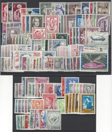 Belgium 1955/1958 - complete years with OBP BL31 and stamp from block - OBP 961/1089