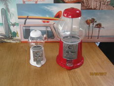 2 Beautiful retro gumball machines, 45/20 cm high