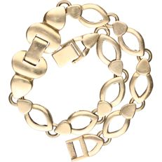 14 kt - Yellow gold fantasy link bracelet - Length: 19 cm