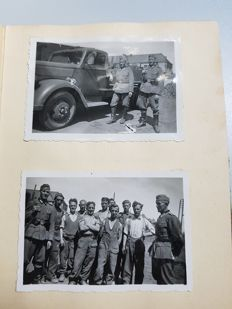 Photo album German soldier with southern eastern front, presumably Caucasus