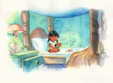 "Studio Disney Italia - original illustration ""Lilo & Stitch: I Miss You"""