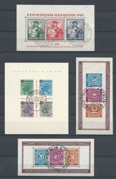 Allied occupation 1946/1946 - Selection of blocks - Michel block 1a, 1I, 12A/B