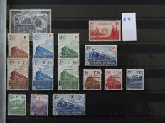 France 1918/1964 - Selection of issues on stock sheets