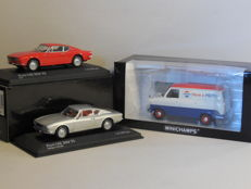 Minichamps - Scale 1/43 - Lot with 3 classic Ford models: 2 x Ford OSI 20M TS & 1 x Ford Transit 'Pepsi-Cola'