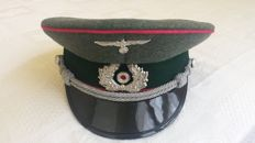 """III  Reich Artillery Officer Cap similar to the one seen in the movie """"The Night of the Generals, 1967"""" with Omar Sharif"""