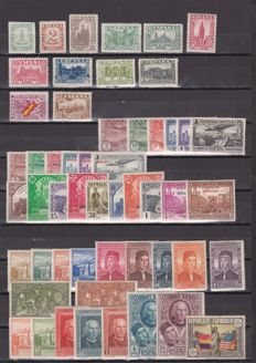 Spain 1930/1938 - Lot of stamps and complete series - Edifil 547/558, 549/565, 614/619, 620/629, 630/635, 763, 802/813