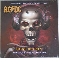 Lots Of 3 Live Albums By AC/DC All Limited Edition Color, Gone Rockin, WKDF FM Nashville, 8th August 1978 Color Burgundy, Hell`s Belles Dallas Texas 1985,  Live Wires - In Concert - Paradise Theatre, Boston, 21st August 1977