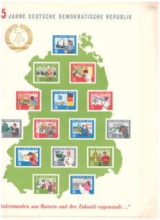 GDR of East Germany - compilation of blocks, sheets and special items