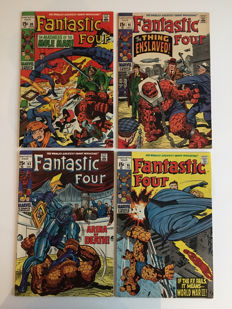 Marvel Comics - Fantastic Four - Issues #89, #91, #93 & #95 - 1st Print - 4x SC - (1969/70)
