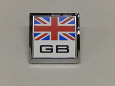 Vintage Great Britain GB Union Jack Flag Car Auto Badge with original fittings