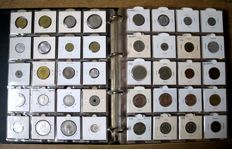 Africa and Middle East - Collection of various coins 1932/1992 (204 varieties), including: 11x silver in album.