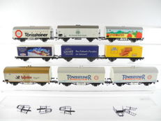 Roco H0 - 9 different advertising carriages, most of the DB [489]