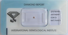 Natural Fancy Light Pinkish Brown Diamond 0.04 ct  with IGI cert *** no minimum price***