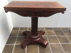 A Louis Philippe mahogany and marquetry games table - France - circa 1830/1840