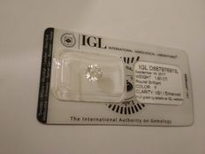 1.60 carat F VS1 Round Brilliant Natural Diamond Comes With Sealed IGL Certificate