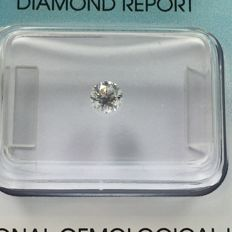Brilliant cut diamond 0.25 ct F, I.F with IGI certificate