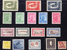 Liechtenstein 1912/1938 - ANK 1x and y-171, 17 values on stock paper