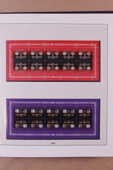 Europa Stamps 1992/1995 - Collection of Lindner Falzlos T-type preprinted album