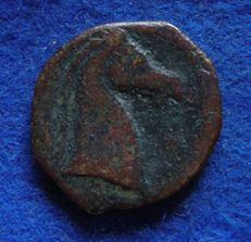 Greek antiquity – AE Shekel Carthago (300-264 BC).
