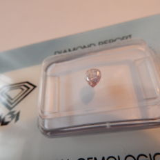 0.22 ct natural diamond light pink certificate IGI