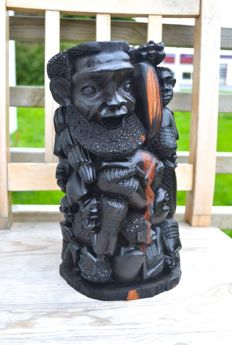 Vintage African ebony wood hand-carved sculpture - Kamba/Akamba tribe - no reserve price