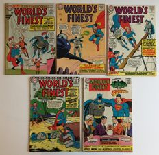 DC Comics - World's Finest - Issues #152, #153, #154, #157 & #172 - 1st Print - 5x SC - (1965/1967)