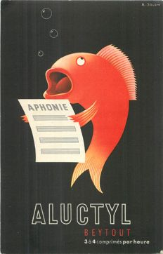 Advertising - advertising cards of the 1950s - some are signed by illustrators of the time / Hova, Freyer, Letourneur, Blonde, Jan, Erbé; Rollet, C,M, Vasorely