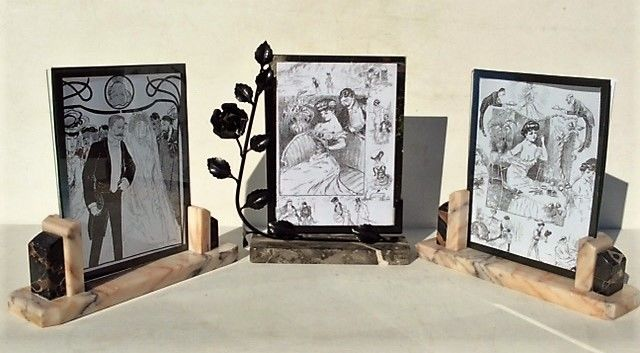 Three Large Heavy Marble Standing Art Deco Picture Frames Belgium They Are Suitable For Larger Photos Up To 185 X 245 Cm Catawiki