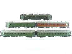 Roco H0 - 5-piece passenger train type 'Hechtwagen'(= Pike) of the DB [476]