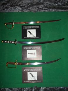 """Franklin Mint - Three swords from the collection """"The history of the sword"""" with certificates of authenticity"""