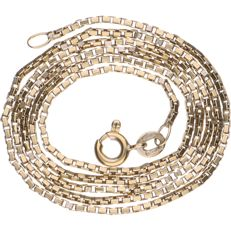 18 kt Yellow gold Venetian link necklace - Length: 47 cm