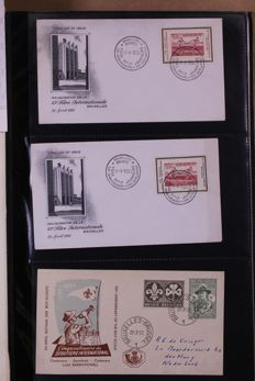 Belgium, 1951-1981 - batch of FDCs in two albums and box
