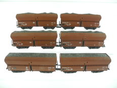 "Roco H0-46240 - 6 bulk cargo transport ""ore cars"" of the DB [478]"