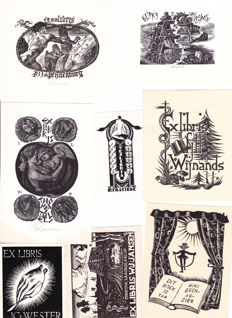 112 Dutch book plates and graphics