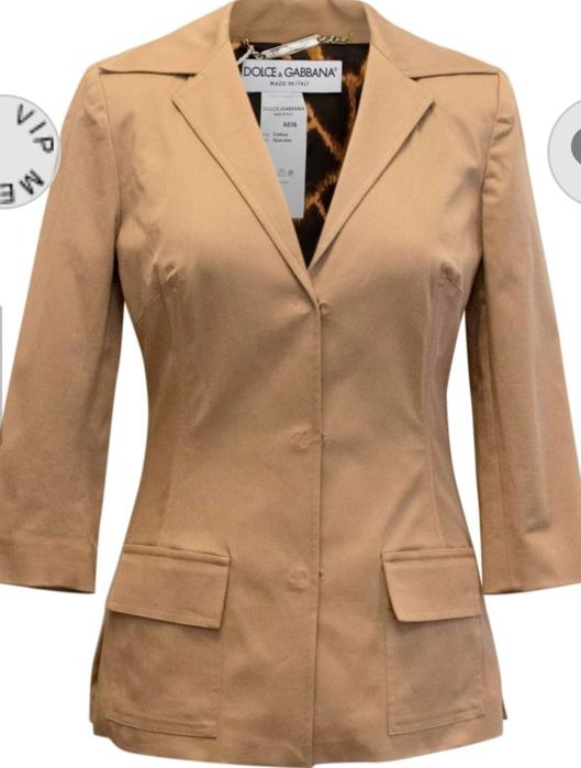 Dolce & Gabbana - £510 Tan jacket NEVER WORN