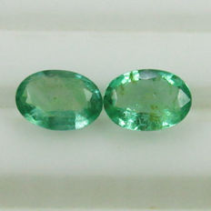 Emerald Pair - 1.25 Ct - No Reserve Price