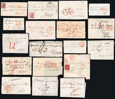 Spain 1800/1854 - Lot of 18 units of Soria Postal History.