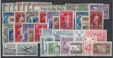 Belgium - Composition of Air mail, Official stamps and Tête-bêche stamps