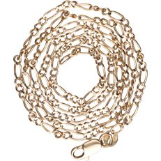14 kt - Yellow gold Figaro link necklace - Length: 49 cm