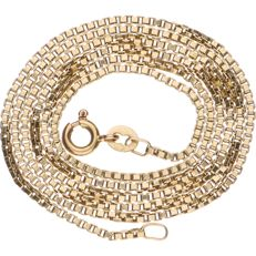 14 kt Yellow gold Venetian link necklace - Length: 52 cm