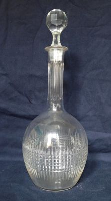 Baccarat crystal wine decanter, Nancy pattern, France, before 1936