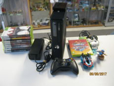 Xbox 360 -250 GB with 9 games like: Crash, Gears of war 1 & 2, Crysis 3 and more