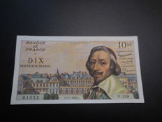 France - 10 new Francs 5.1.1961 - Richelieu - Fayette 57.13