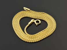 """18k Gold Necklace. Chain """"Wheat"""" - 50 cm. No reserve price."""